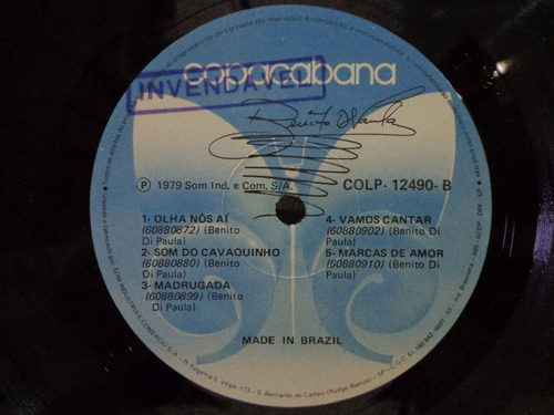 lp benito di paula-autografado-copacabana-1979