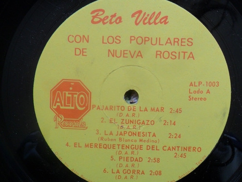 lp beto villa con los populares de nueva rosita cumbias