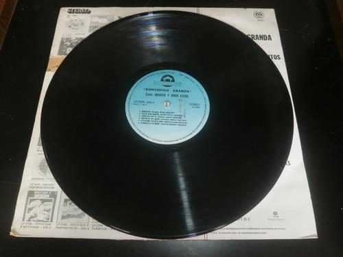 lp bienvenido granda, canta angustia, disco vinil, 1980