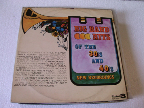 lp big band hits of the 30s and 40s-new recordings-1974