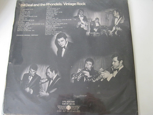 lp  =   bill deal  and the rhondels - vintage rock