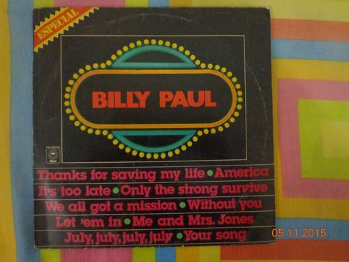 lp billy paul - billy paul especial
