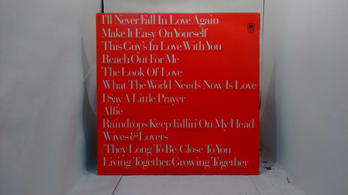 lp - burt bacharach - greatest hits
