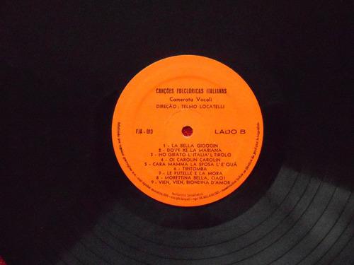 lp canções folclóricas italianas p/1978