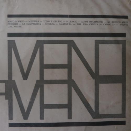 lp carlos gardel 1961 mano a mano, disco de vinil