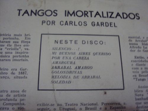 lp carlos gardel - tangos imortalizados