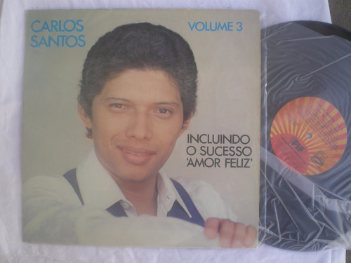 lp - carlos santos - vol. 3 / fif / 1981
