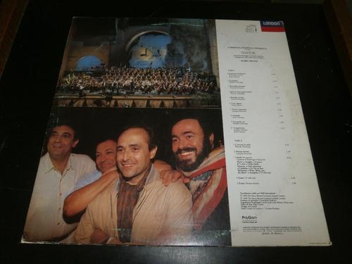 lp carreras domingo pavarotti in concert mehta, vinil 1990