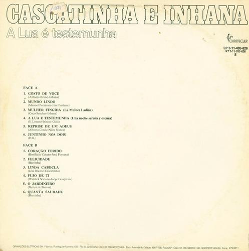 lp cascatinha e inhana - a lua e testemunha - 1978
