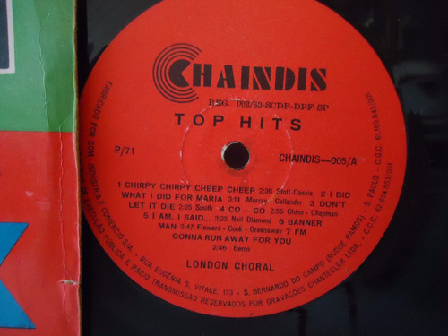 lp cash box  vol.3 - top hits - selo chaindis