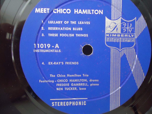 lp chico hamilton meet- selo kimberly- importado