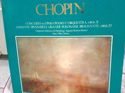 lp chopin / concerto nº 2 e andante spianato  (frete grátis)