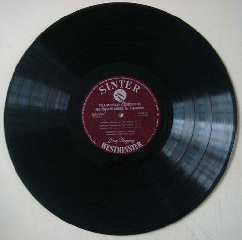 lp clássico - geminiani- 6 concerti grossi, opus 3