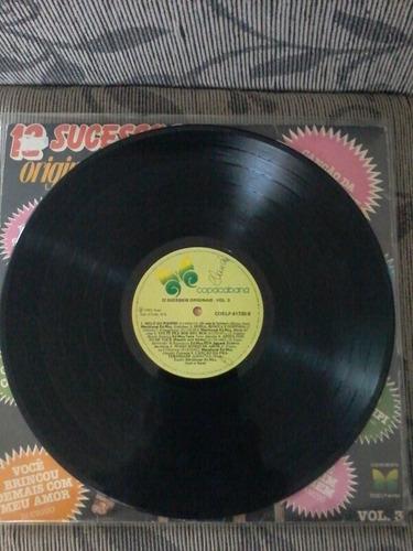 lp coletânia 12 sucessos originais vol 3 ano 1982