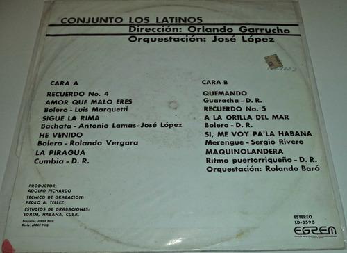 lp conjunto los latinos / importado