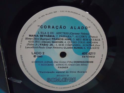 lp coração alado- internacional - som livre- 1980