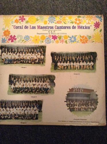 lp coral de los maestros cantores de mexico