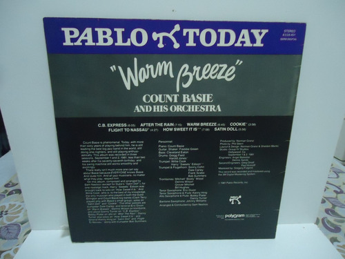 lp count basie and his orchestra warm breeze selo pablo 1982