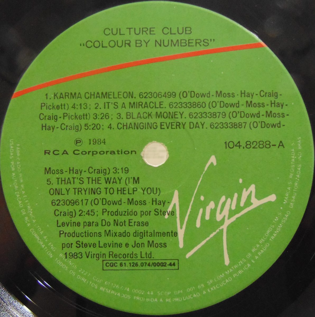 Lp Culture Club - Colour By Numbers - 1984 - Virgin (com Enc - R$ 30 ...