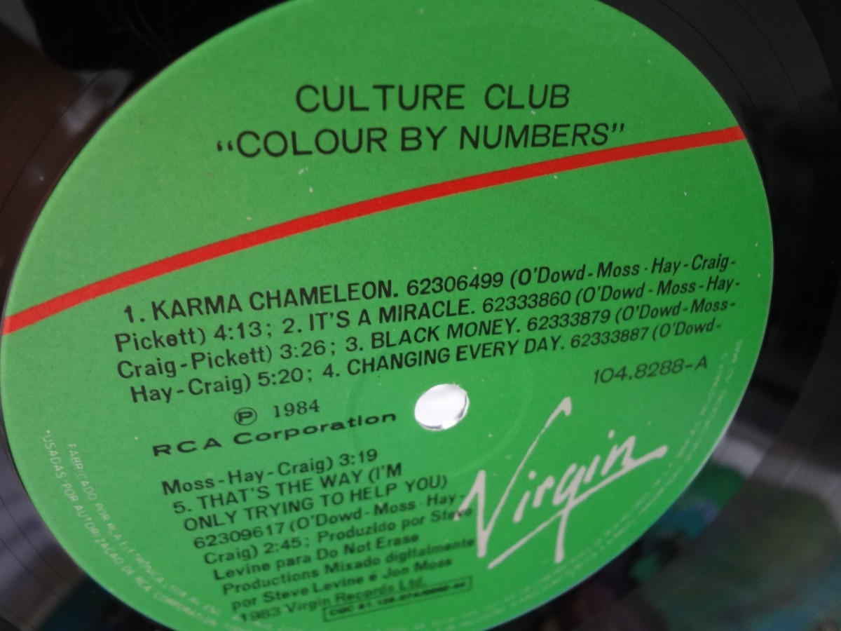 Lp Culture Club - Colour By Numbers Trekus Vintage - R$ 60,00 em ...