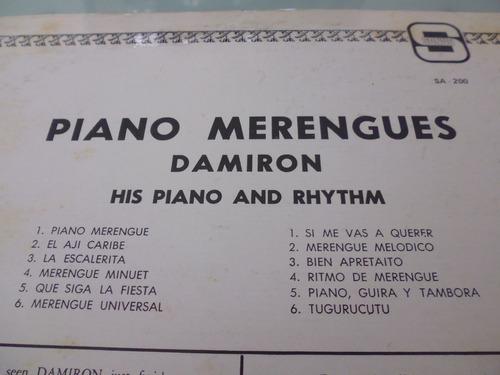 lp / damiron / merengues ! / piano y ritmo / vinyl / acetato