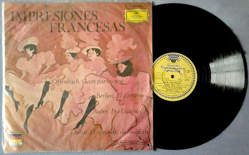 l.p de vinilo impresiones francesas: offenbach, berlioz,etc.