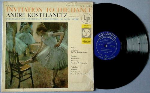 l.p de vinilo invitation to the dance - kostelanetz - $ 80