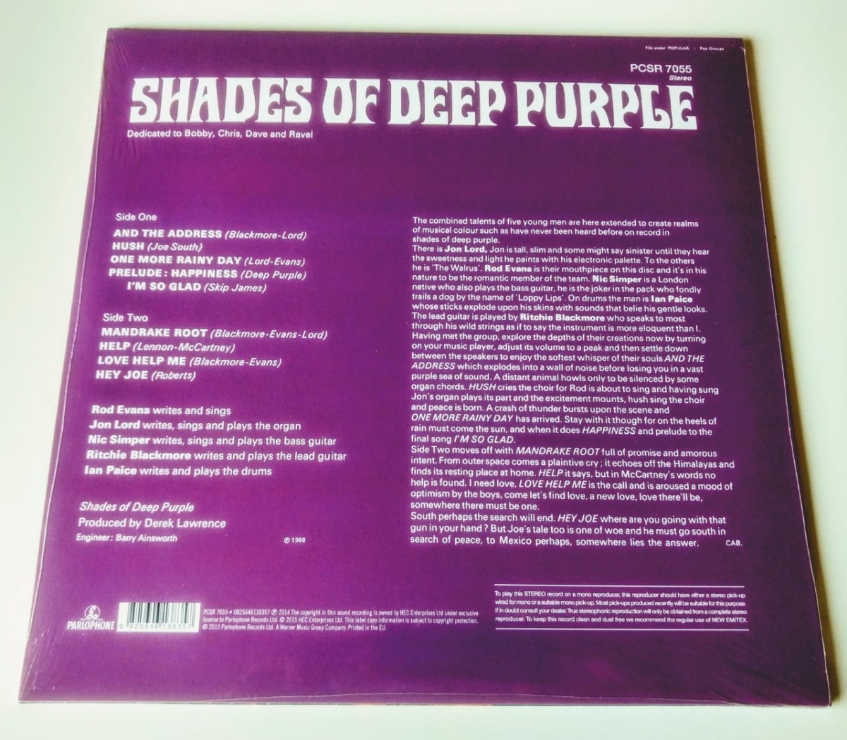 Lp Deep Purple Shades Of Deep Purple 1968 180g Burn In Rock