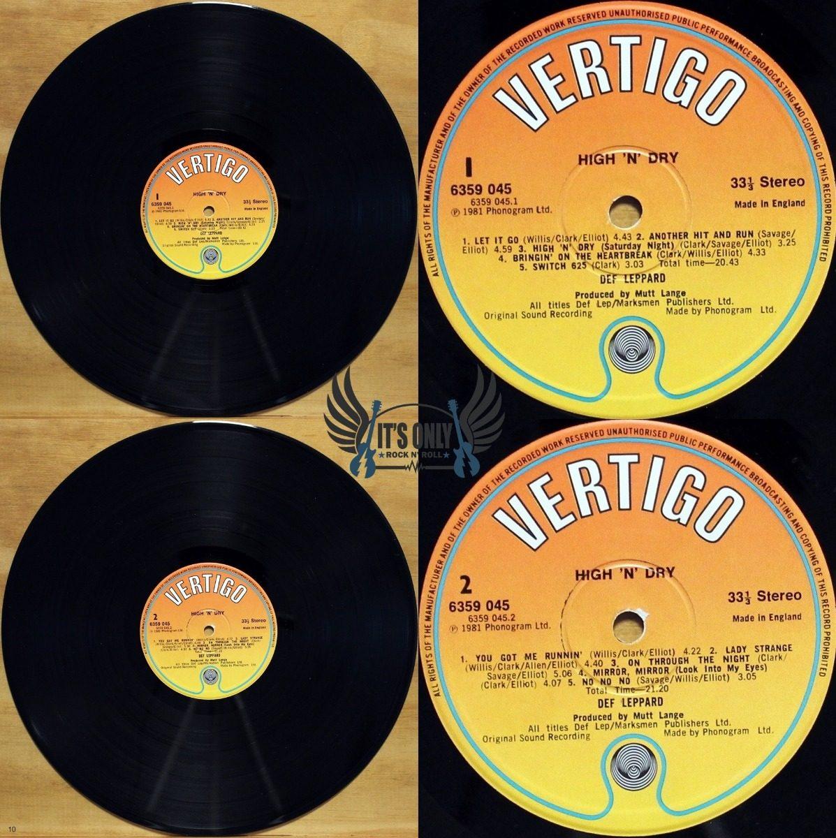 Lp Def Leppard - High 'n' Dry ( Importado )