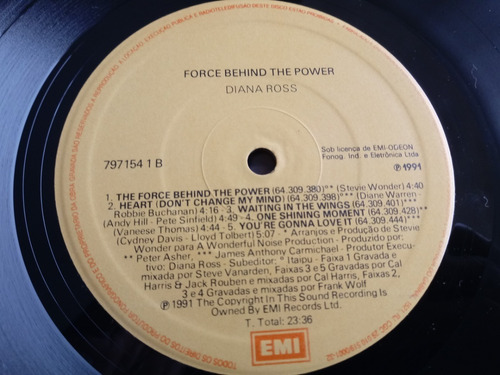 lp diana ross the force behind the power encarte 1991