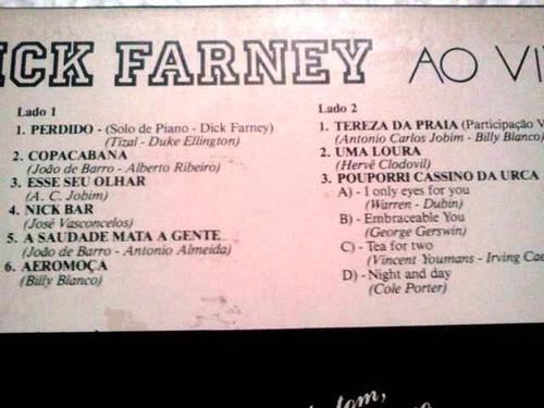 lp dick farney ao vivo 1987 discoban