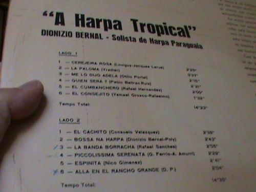 lp - dionizio bernal - harpa tropical - vinil  zerado