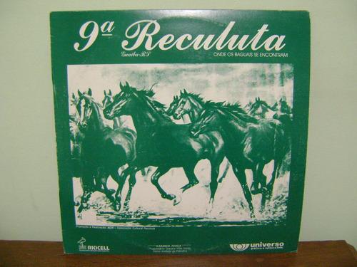 lp disco vinil 9ª reculuta canção crioula guaíba