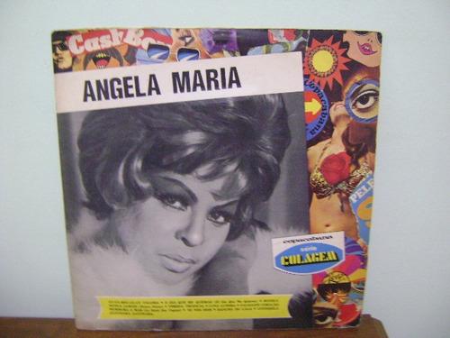 lp disco vinil antigo angela maria série colagem
