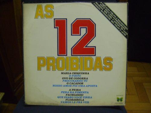 lp disco vinil antigo as 12 proibidas - 1977