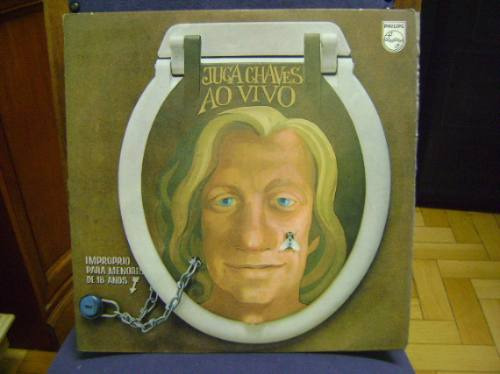 lp disco vinil antigo juca chaves ao vivo - 1972