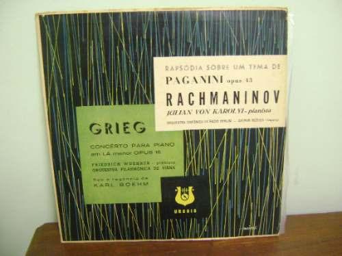 lp disco vinil antigo rachmaninov - grieg