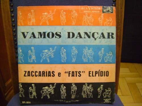 lp disco vinil antigo vamos dançar - 1956