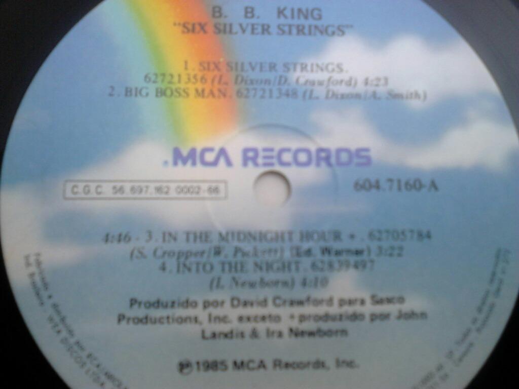 Lp Disco Vinil Bb King - Six Silver Strings