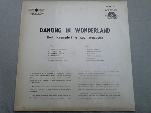 lp disco vinil bert kaempfert - dancing in wonderland
