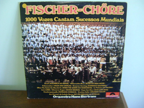 lp disco vinil fischer chöre 1000 vozes sucessos mundiais