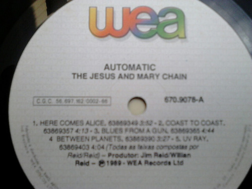lp disco vinil jesus and mary chain  - automatic