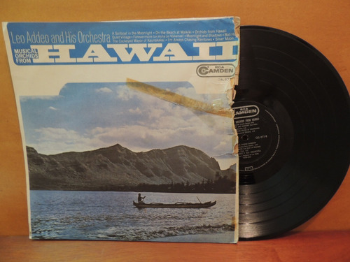 lp disco vinil leo addeo and orchestra hawaii 1966