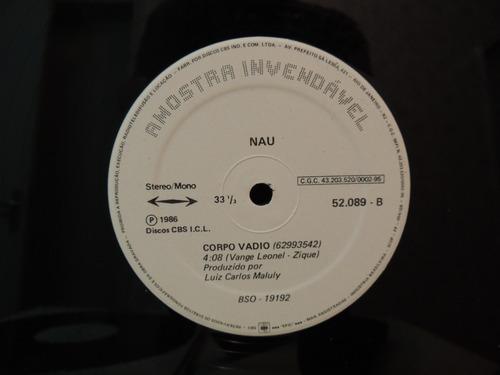 lp disco vinil nau corpo vadio promocional single 1986