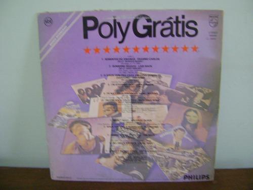 lp disco vinil poly grátis brinde polygram 1984 azul