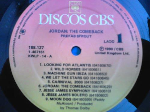 lp disco vinil prefab sprout - jordan the comeback