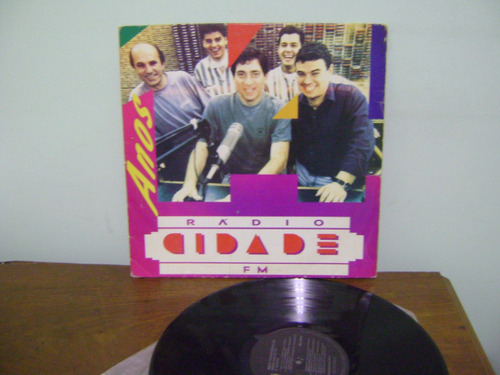lp disco vinil rádio cidade fm 14 anos