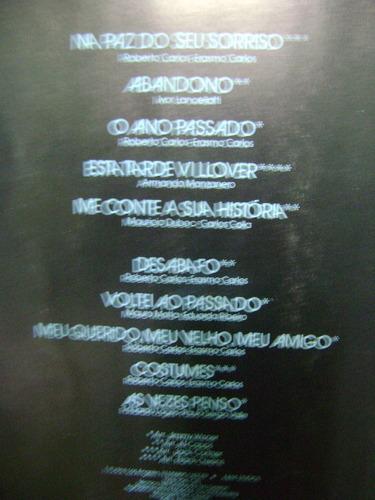 lp disco vinil roberto carlos na paz do seu sorriso 1979