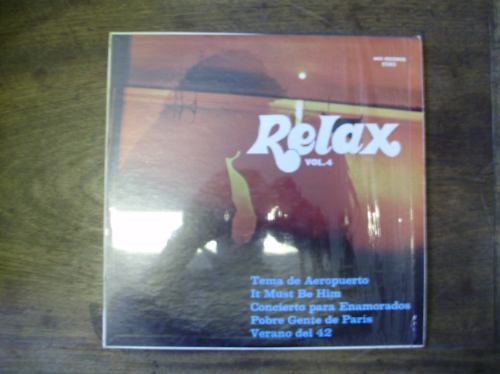 lp disco vinilo pasta relax vol. 4