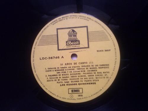 lp doble los huasos quincheros 33 años de canto